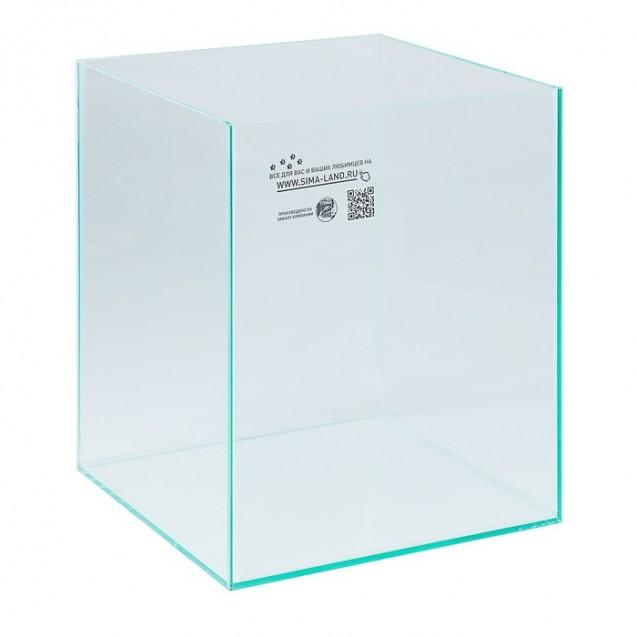 Аквариум куб без покровного стекла, 31 литр, бесцветный шов