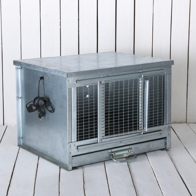 Брудер для цыплят, 52 × 46 × 47 см, с поддоном, с патроном под лампу, металлический