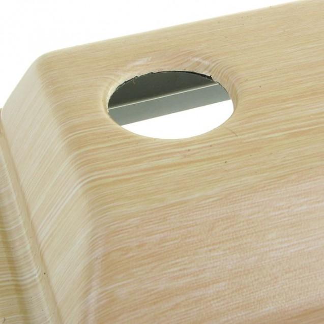 Аквариум прямоугольный с крышкой, 20 литров, 36 х 19 х 29/34,5 см, беленый дуб