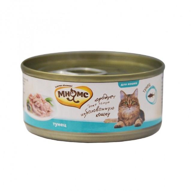 """Влажный корм """"Мнямс"""" для кошек, тунец в нежном желе, ж/б, 70 г"""