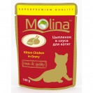 Влажный корм Molina для котят, цыпленок в соусе, 100 г