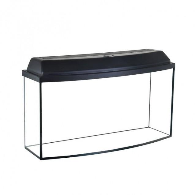 Аквариум телевизор с крышкой, 200 литров, 110 х 42 х 50/57 см, чёрный