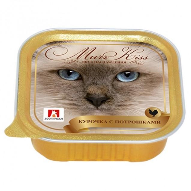 "Влажный корм ""Зоогурман"" МуррКисс для кошек, курочка/потрошки, ламистер, 100 г"