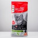 Акция! Сухой корм PRO PLAN для стерилизованных кошек, лосось, 10 + 2 кг