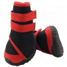 Ботинки Triol мягкие для собак M , неопрен на липучках,  красные