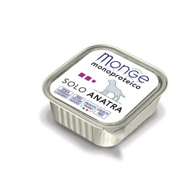 Влажный корм Monge Dog Monoproteico Solo для собак, паштет из утки, ламистер, 150 г