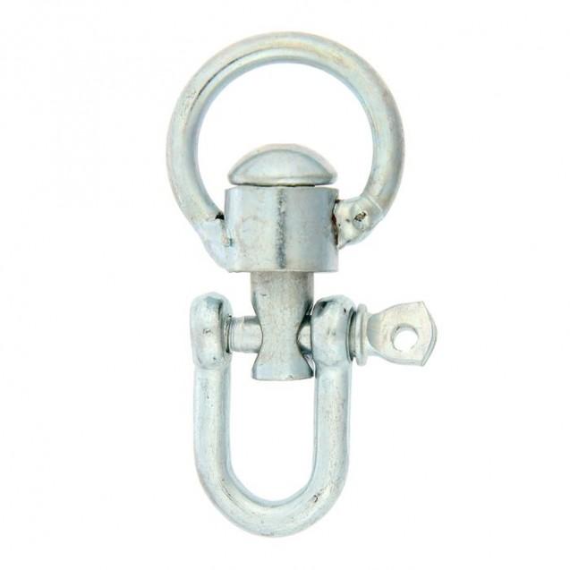 Вертлюг разборный №1 малый, общая длина 5,8 см, диаметр кольца 2,8 см, толщина проволоки 0,4 см