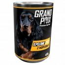 Влажный корм GRAND PRIX для собак, аппетитные кусочки в соусе кролик с морковью, 400 г