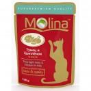 Влажный корм Molina для кошек, тунец и цыпленок в желе, 100 г