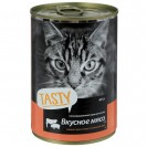 Влажный корм Tasty для кошек, мясное ассорти в соусе, ж/б, 415 г