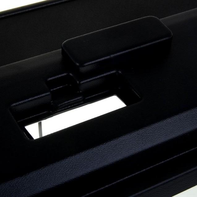 Аквариум панорамный с крышкой, 60 литров, 64 х 26 х 36/42 см, чёрный