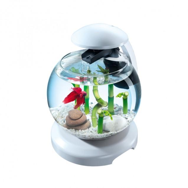 Аквариум Tetra Cascade Globe White 6,8л круглый с LED светильником, белый