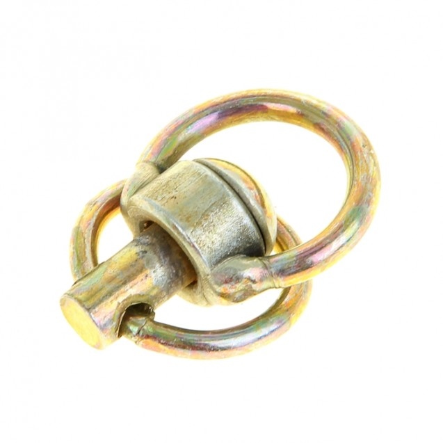 Вертлюг с кольцом, малый, общая длина 6,2 см, длина кольца 3,7 см, толщина проволоки 0,3 см
