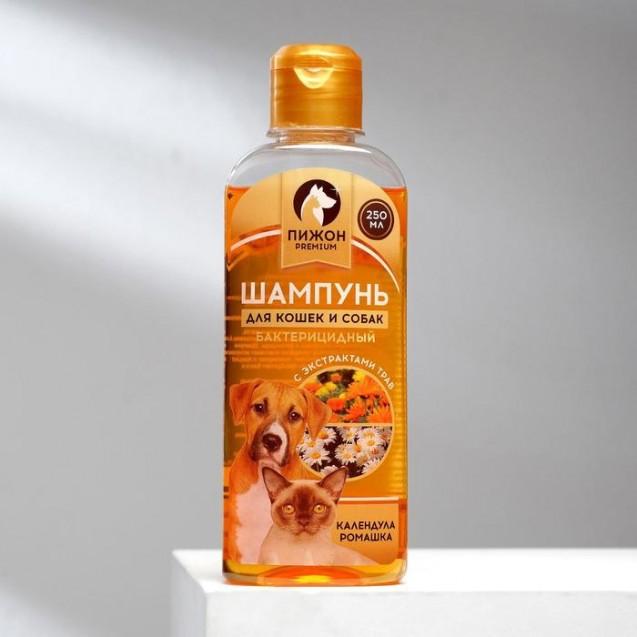 """Бактерицидный шампунь """"Пижон Premium"""" для кошек и собак, с календулой и ромашкой, 250 мл"""